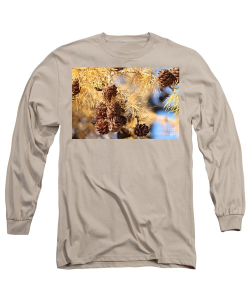 Long Sleeve T-Shirt featuring the photograph Golden Needles by Ann E Robson
