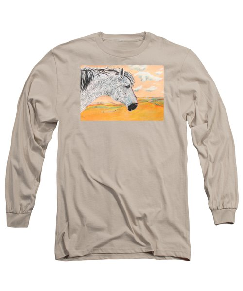 Golden Sky Long Sleeve T-Shirt by Jeanne Fischer