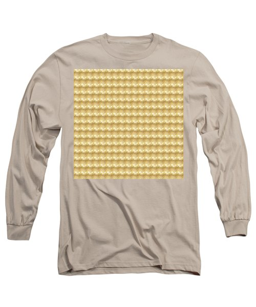 Long Sleeve T-Shirt featuring the photograph Golden Sparkle Tone Pattern Unique Graphic V2 by Navin Joshi