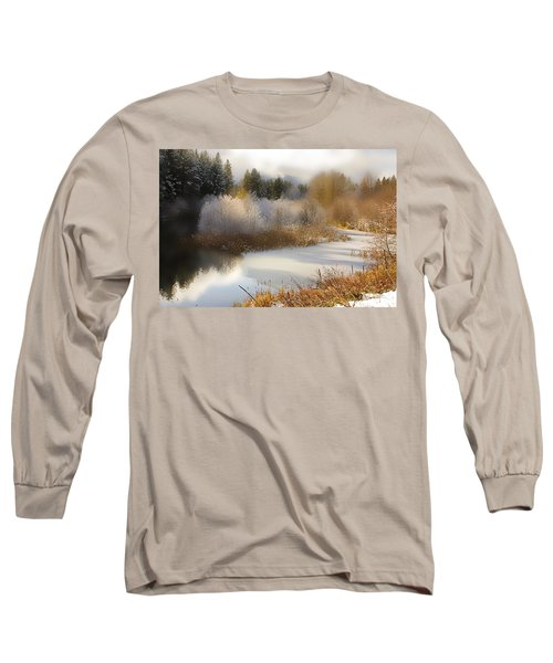 Golden Winter Long Sleeve T-Shirt by Sonya Lang