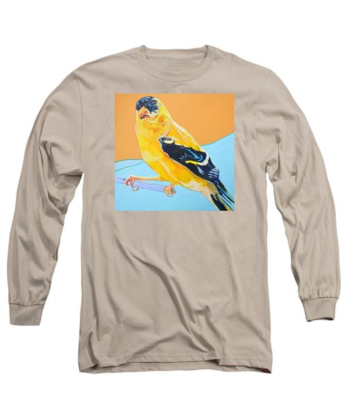 Goldfinch Long Sleeve T-Shirt by Jamie Downs