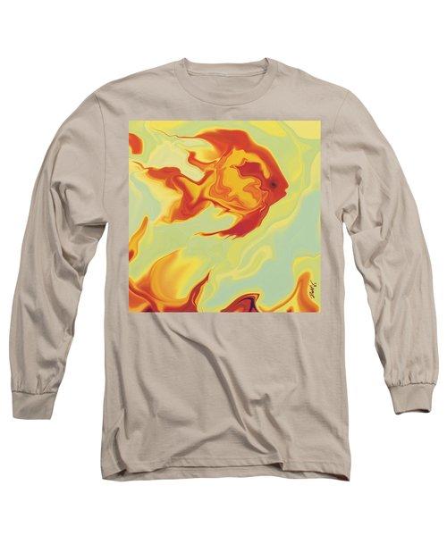 Goldfish 1 Long Sleeve T-Shirt by Rabi Khan