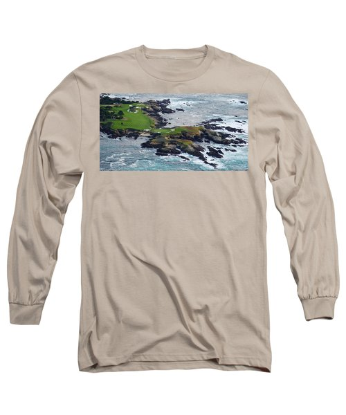 Golf Course On An Island, Pebble Beach Long Sleeve T-Shirt