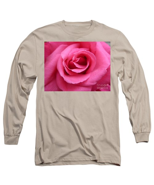 Gorgeous Pink Rose Long Sleeve T-Shirt by Vicki Spindler