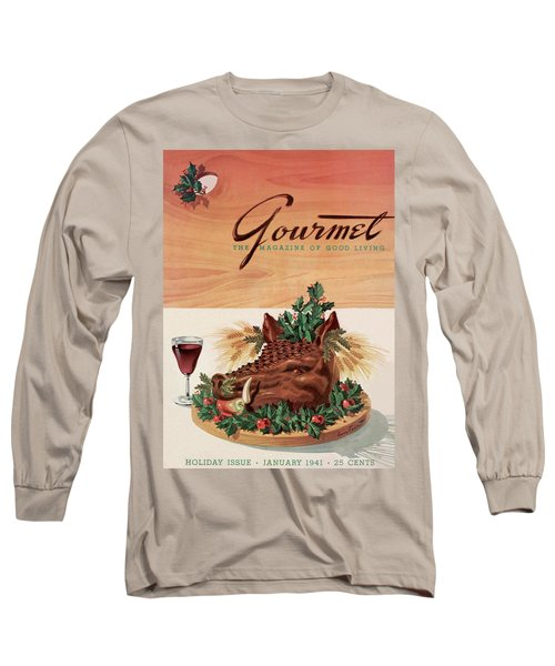 Gourmet Cover Featuring A Boar's Head Long Sleeve T-Shirt