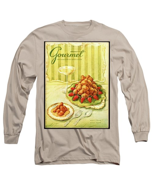 Gourmet Cover Featuring A Plate Of Beignets Long Sleeve T-Shirt