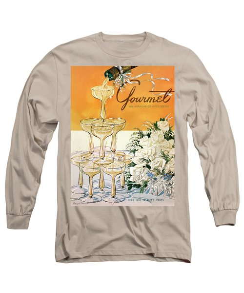Gourmet Cover Featuring A Pyramid Of Champagne Long Sleeve T-Shirt