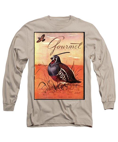 Gourmet Cover Featuring A Quail Long Sleeve T-Shirt