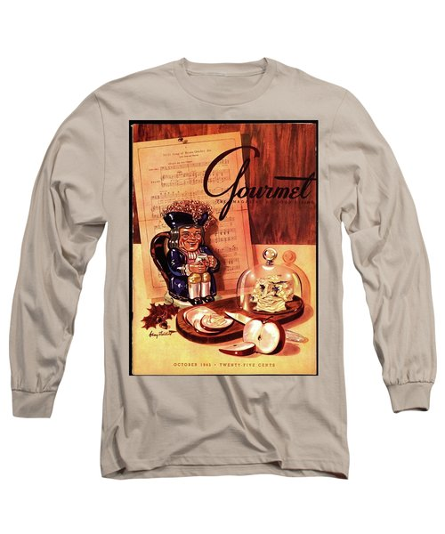 Gourmet Cover Illustration Of A Tray Of Cheese Long Sleeve T-Shirt