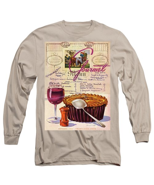 Gourmet Cover Illustration Of Deep Dish Pie Long Sleeve T-Shirt
