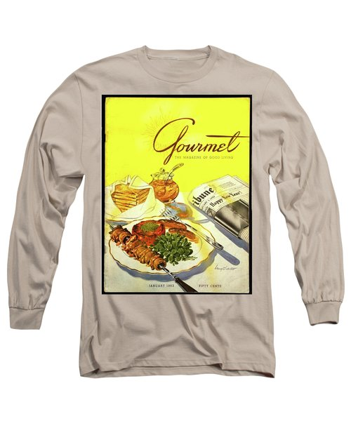 Gourmet Cover Illustration Of Grilled Breakfast Long Sleeve T-Shirt