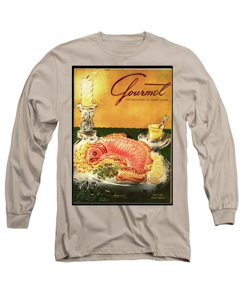 Gourmet Cover Illustration Of Salmon Mousse Long Sleeve T-Shirt