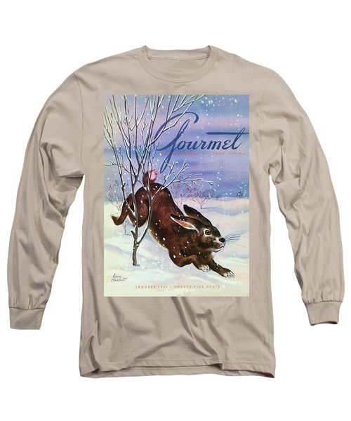 Gourmet Cover Of A Rabbit On Snow Long Sleeve T-Shirt