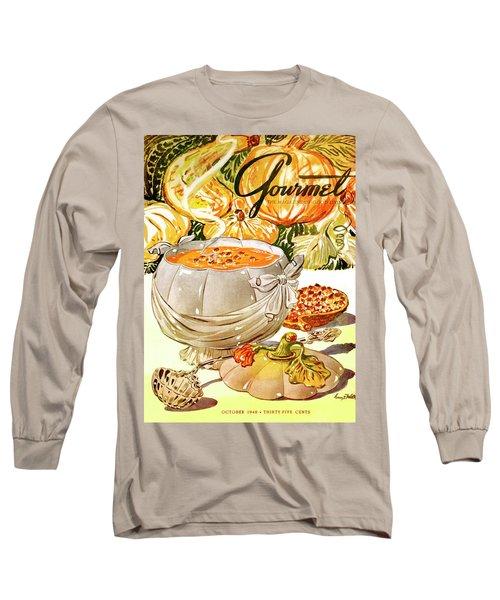 Gourmet Cover Of Pumpkin Soup Long Sleeve T-Shirt