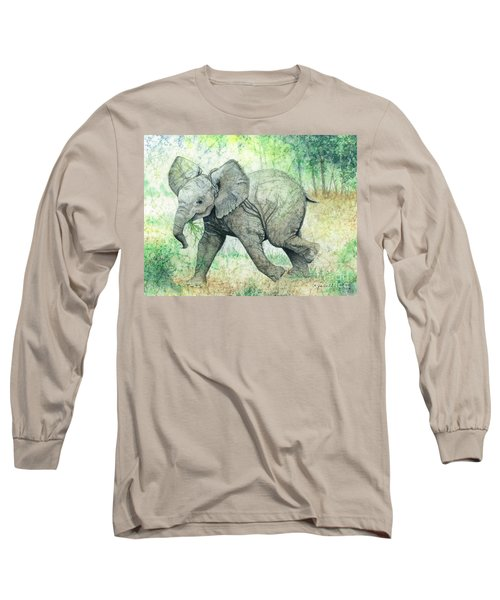 Grabbing A Snack Long Sleeve T-Shirt by Barbara Jewell