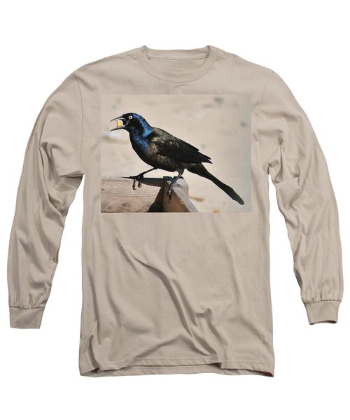Grackle Chow Down Long Sleeve T-Shirt