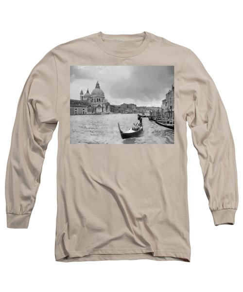 Long Sleeve T-Shirt featuring the painting Grand Canal Venice Italy by Georgi Dimitrov