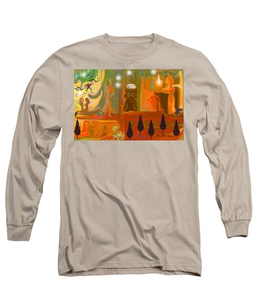 Long Sleeve T-Shirt featuring the painting Grandpas House For His Little Peeps by Sherri  Of Palm Springs