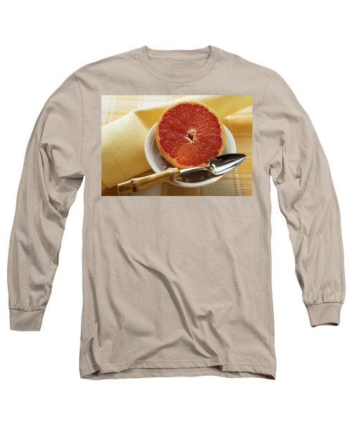 Grapefruit Half With Grapefruit Spoon In A Bowl Long Sleeve T-Shirt
