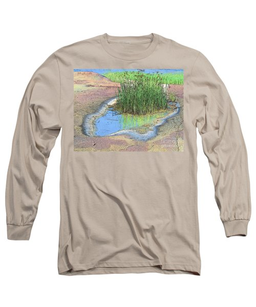Long Sleeve T-Shirt featuring the photograph Grass Growing On Rocks by Teresa Zieba