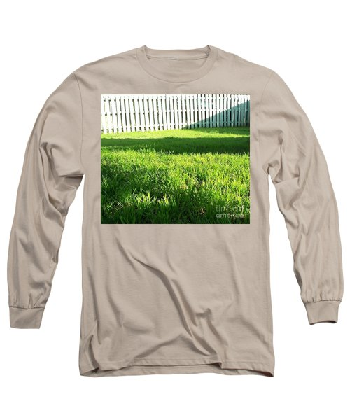 Grass Shadows Long Sleeve T-Shirt by Susan Williams