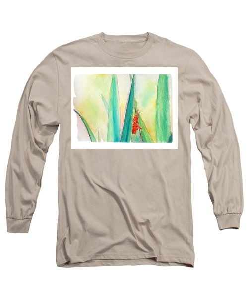 Long Sleeve T-Shirt featuring the painting Grasshopper by C Sitton