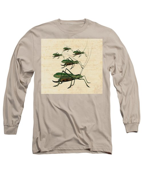 Grasshopper Parade Long Sleeve T-Shirt by Antique Images