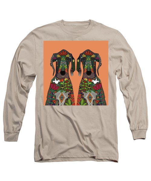 Great Dane Love Tangerine Long Sleeve T-Shirt