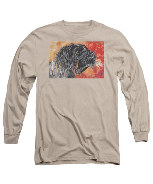 Long Sleeve T-Shirt featuring the painting Great Fresian by Mary Armstrong