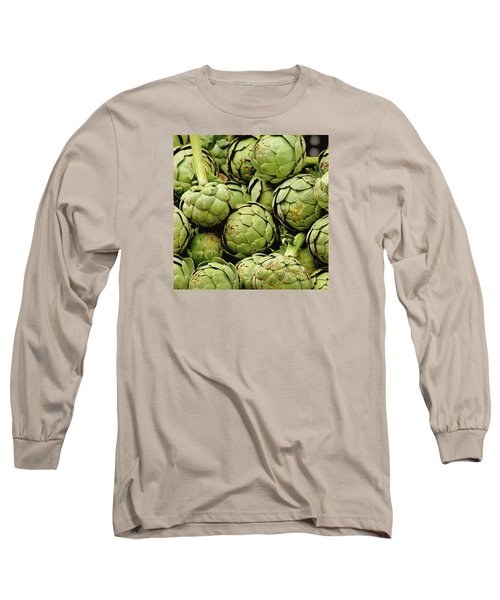 Green Artichokes Long Sleeve T-Shirt by Art Block Collections