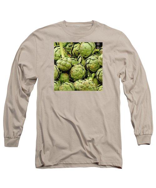 Green Artichokes Long Sleeve T-Shirt