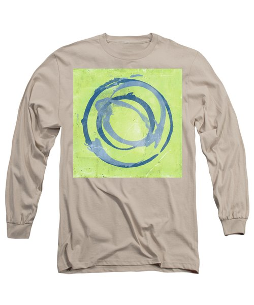 Long Sleeve T-Shirt featuring the painting Green Blue by Julie Niemela
