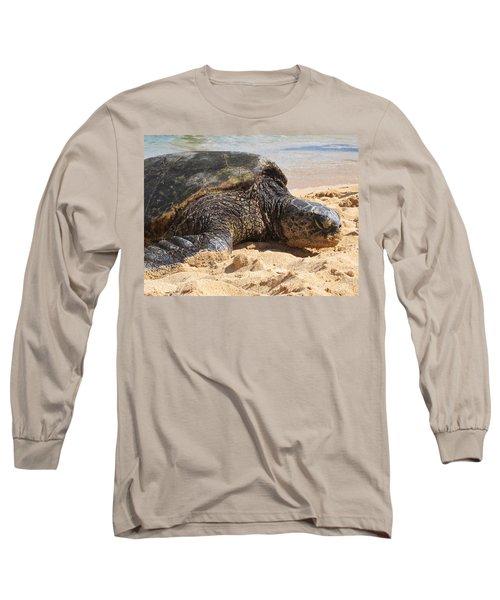 Green Sea Turtle 2 - Kauai Long Sleeve T-Shirt