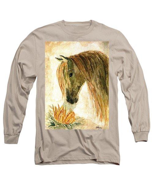 Greeting A Sunflower Long Sleeve T-Shirt