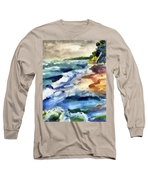 Grey Sky Day On The Lake Long Sleeve T-Shirt