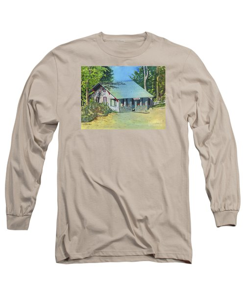 Long Sleeve T-Shirt featuring the painting Graynook by LeAnne Sowa
