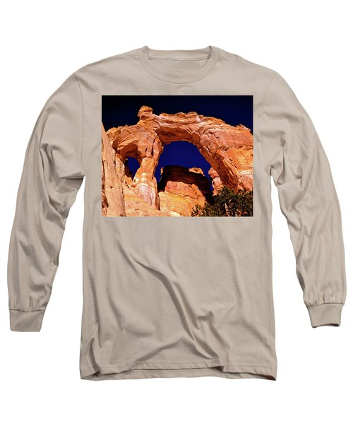 Grosvenor Arch Sunset Kodachrome Basin Long Sleeve T-Shirt by Ed  Riche