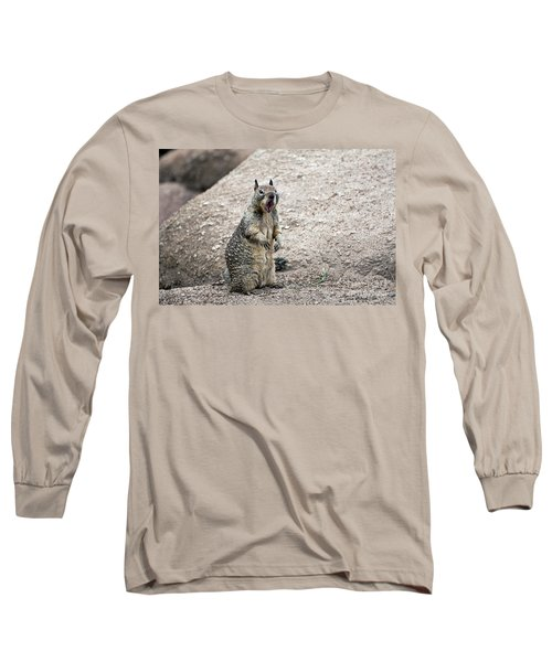 Ground Squirrel Raising A Ruckus Long Sleeve T-Shirt