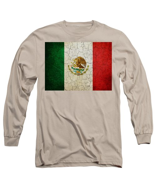 Grunge Mexico Flag Long Sleeve T-Shirt