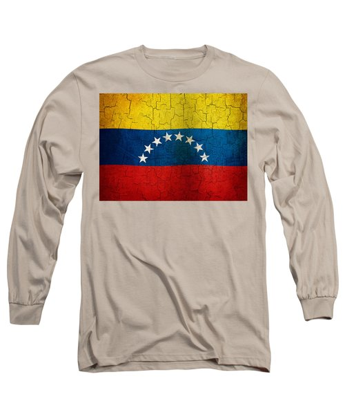 Grunge Venezuela Flag Long Sleeve T-Shirt