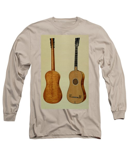 Guitar Made By Antonio Stradivarius Long Sleeve T-Shirt