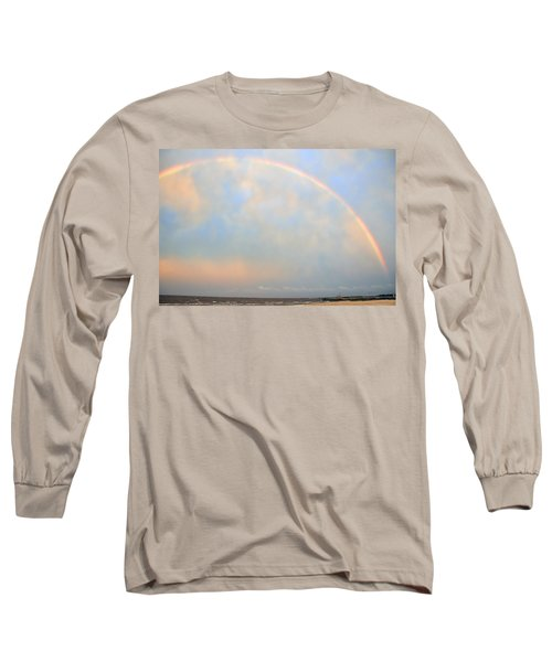 Long Sleeve T-Shirt featuring the photograph Gulf Coast Rainbow by Charlotte Schafer