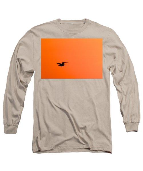 Gull At Sunset Long Sleeve T-Shirt