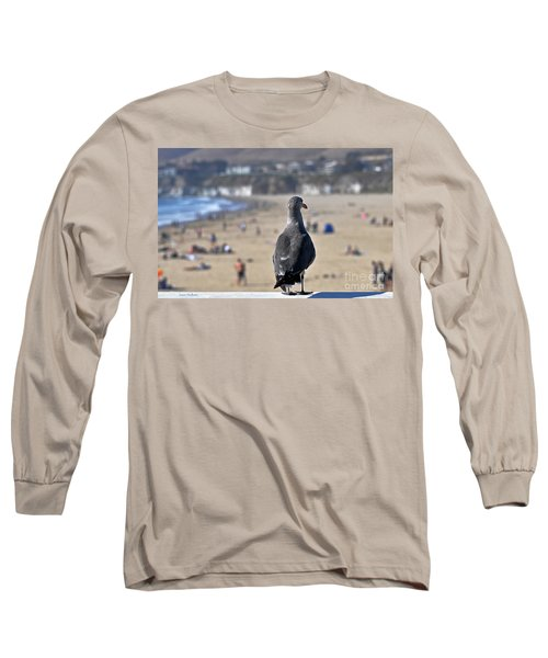 Gull Watching Beach Visitors Long Sleeve T-Shirt