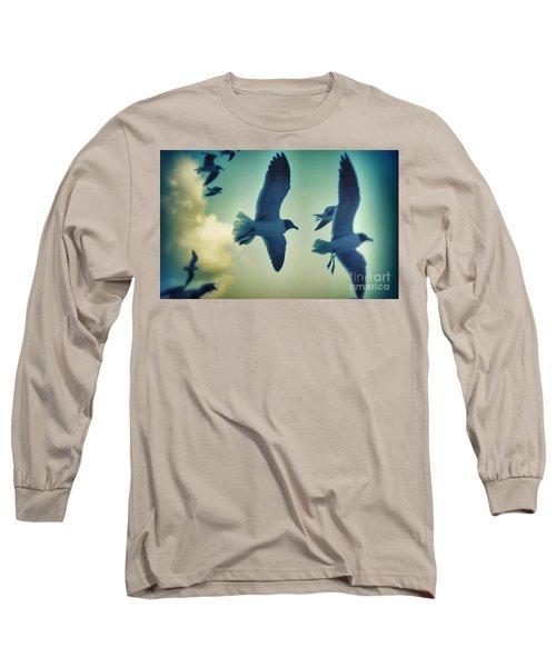 Gulls Long Sleeve T-Shirt by Paulo Guimaraes