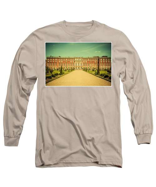 Hampton Court Palace Gardens As Seen From The Knot Garden Long Sleeve T-Shirt