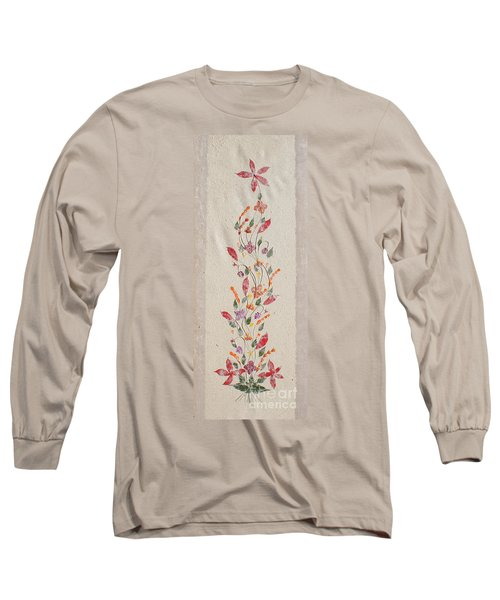 Long Sleeve T-Shirt featuring the photograph handmade paper from Madagascar 2 by Rudi Prott