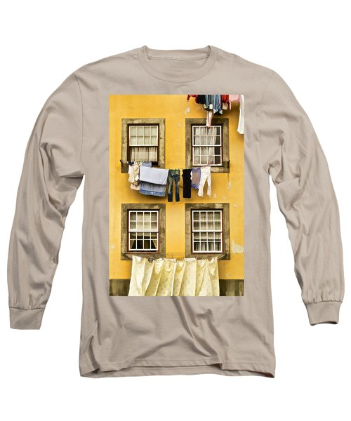 Hanging Clothes Of Old World Europe Long Sleeve T-Shirt