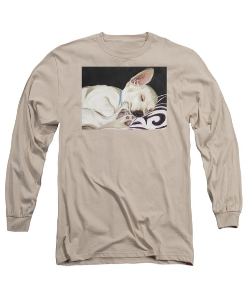 Hanks Sleeping Long Sleeve T-Shirt by Jeanne Fischer