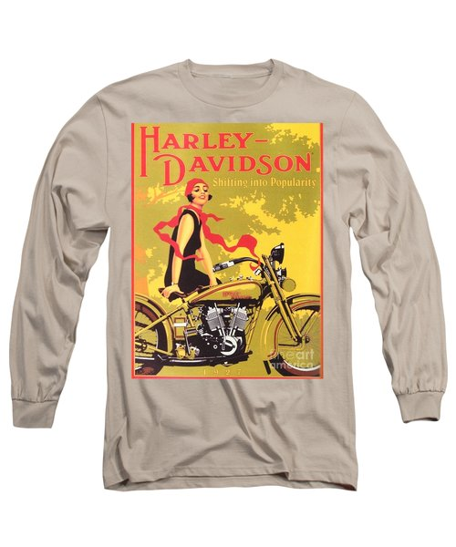 Long Sleeve T-Shirt featuring the painting Harley Davidson 1927 Poster by Reproduction